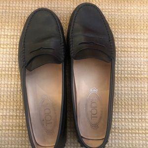 Tod's Women's Gommino Loafers Black Sz 37.5